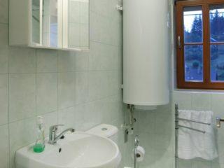 koupelna se sprchou a WC