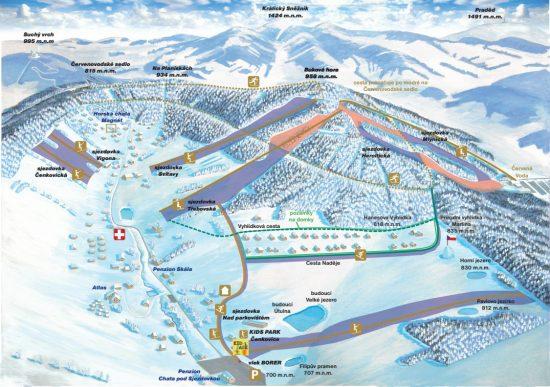 mapa ski čenkovice